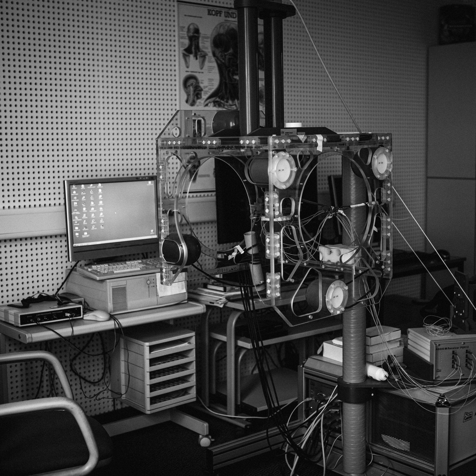 Foto eines großen Apparates im Labor