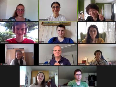 Bildschirmfoto der Online-Videokonferenz.